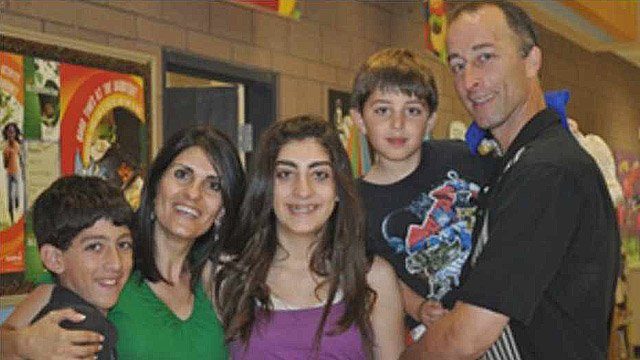 Daniel, left, Yafit, Melissa, Matthew and James Butwin