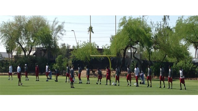 Arizona Cardinals begin training for the coming season. (Source: CBS 5 News)