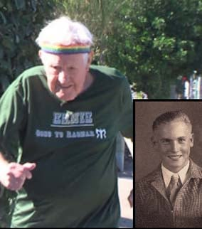 Ernie Andrus, now and then. (Source: warhistoryonline.com)