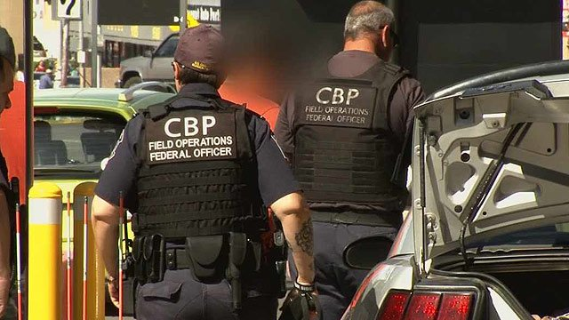 Customs and Border Protection agent Juan Osorio says there are three to four narcotics seizures every day at the port. (Source: CBS 5 News)