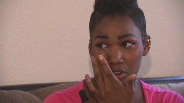 The situation has left senior D'Kiya Johnson in tears. (Source: CBS 5 News)