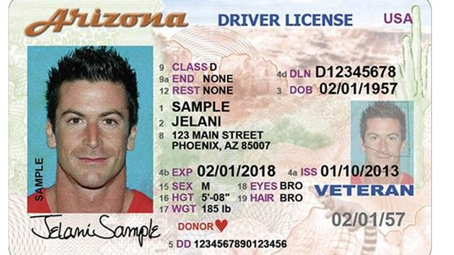 Newly designed Arizona driver's license (Source: ADOT)