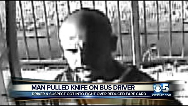 A man pulled a knife on a Valley Metro bus driver. (Source: Silent WItness)