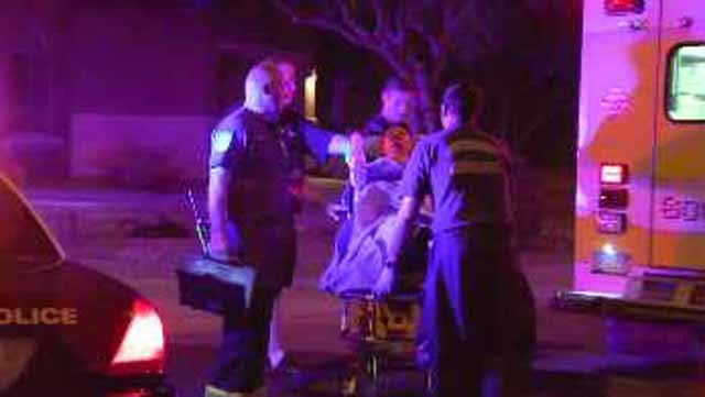 Three people suffered burns to their faces and arms. (Source: CBS 5 News)