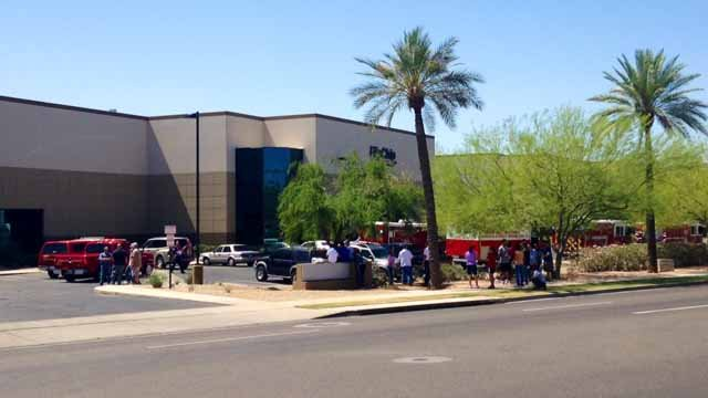 Hazardous material incident at FlipChip in Phoenix. (Source: CBS 5 News)