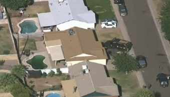 MCSO returns to his home late Thursday. (Source: CBS 5 News)