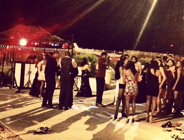 Prom held next to runway at Deer Valley Airport