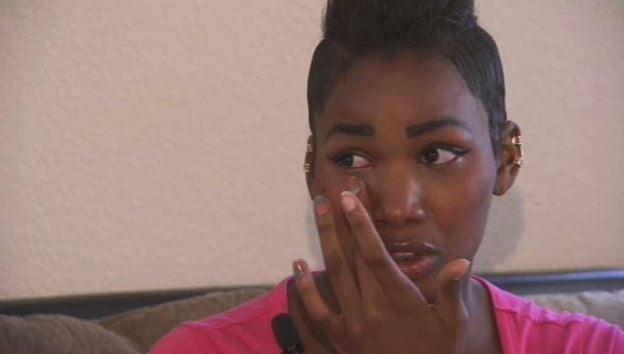 Missing her official prom left senior D'Kiya Johnson in tears. (Source: CBS 5 News)
