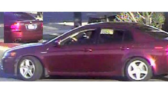 The couple fled in a maroon Acura with a temporary tag. (Source: Mesa Police Department)