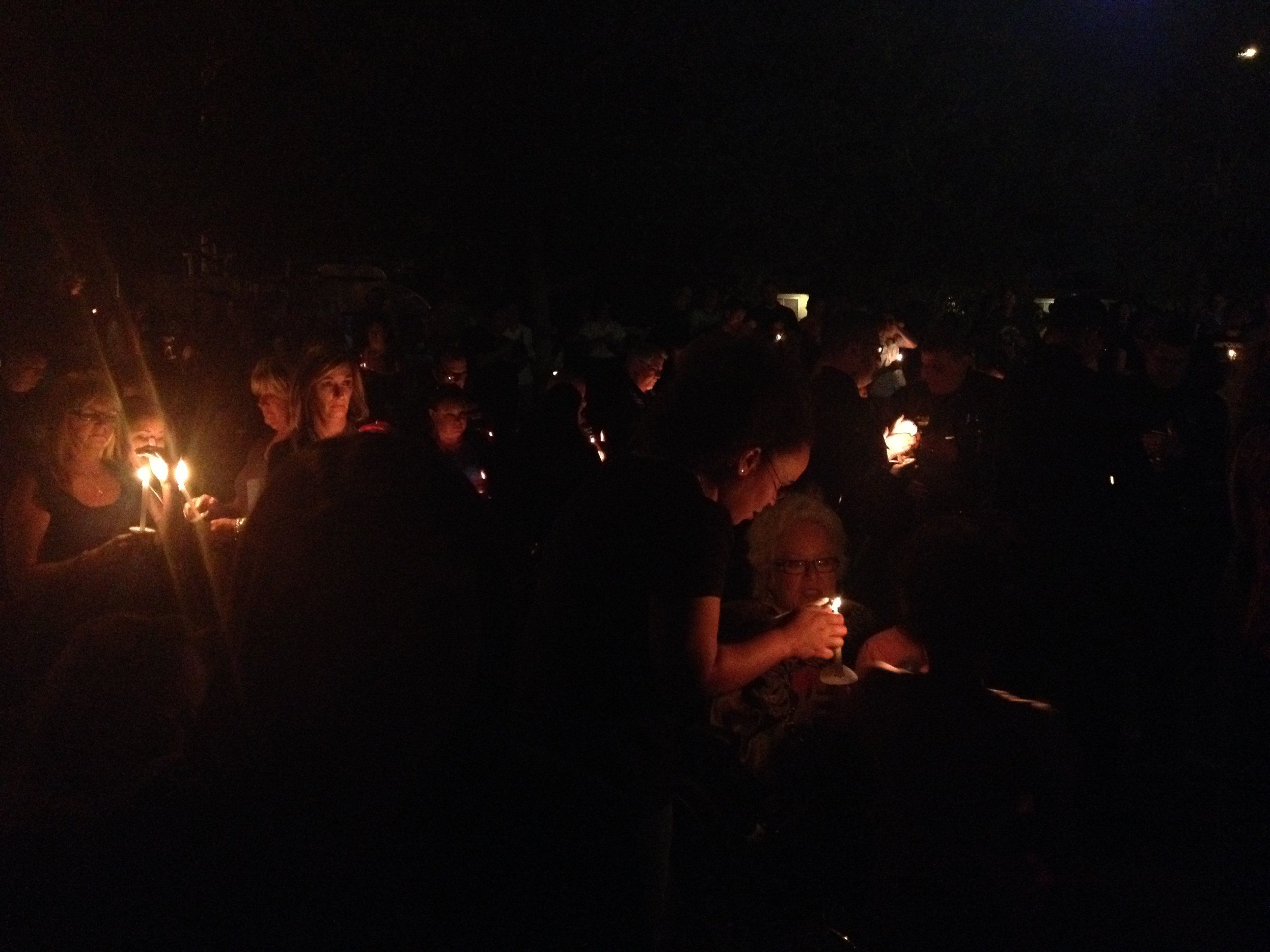 Candlelight vigil at Mesa Police Dept.