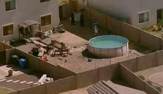 Boy, 11, nearly drowns in backyard pool. (Source: CBS 5 News)