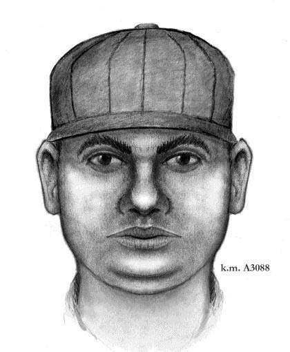 Police sketch of suspect sought in work solicitation robberies. (Source: Phoenix Police Department)