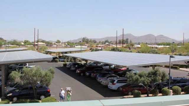 Mesa powers city 39 s largest solar facility to date for Red mountain motors mesa az