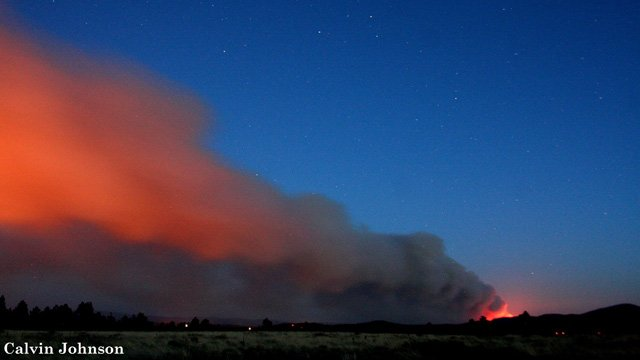 The Slide Fire as seen from Flagstaff by CBS 5 News viewer Calvin Johnson. (Source: Calvin Johnson of Leupp)