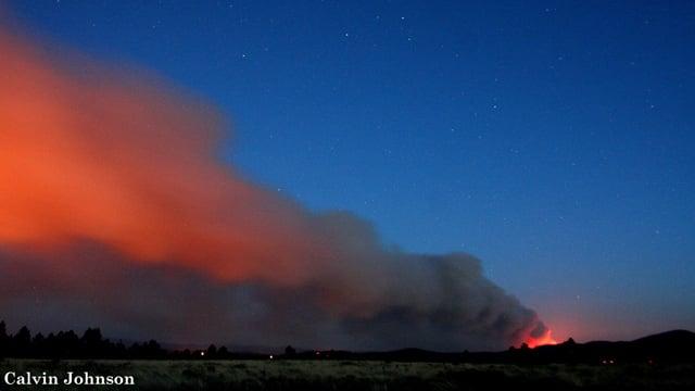 The Slide Fire as seen from Flagstaff by CBS 5 News viewer Calvin Johnson. (Source: Calvin Johnson of Leupp)