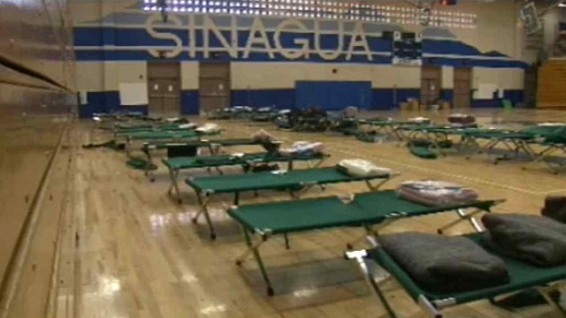 The Grand Canyon Chapter of the American Red Cross has set up a temporary shelter at Sinagua Middle School in Flagstaff for evacuees of the Slide Fire. (Source: CBS 5 News)