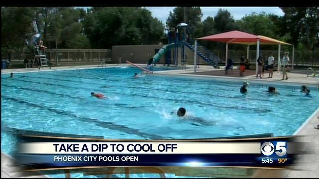 City of Phoenix swimming pools open for Memorial Day weekend. (Source: CBS 5 News)