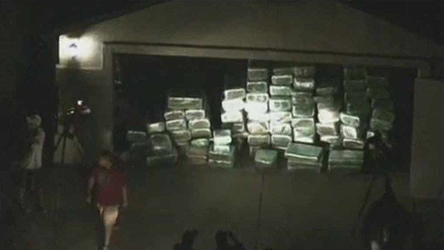 Maricopa County sheriff's deputies said the 3,000 pounds of marijuana found at this Phoenix home Tuesday night is worth about $1.5 million.