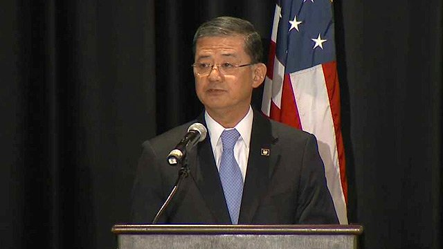 Embattled Veterans Affairs Secretary Eric Shinseki on Friday announced the removal of senior leaders at the Phoenix VA hospital and elimination of performance awards for VA leaders in 2014.  (Source: CBS News)