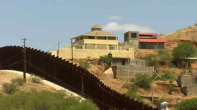 It can be seen from almost any point in east Nogales. Just across the Mexico border, high on a hill, sits a home with an ominous reputation. (Source: CBS 5 News)