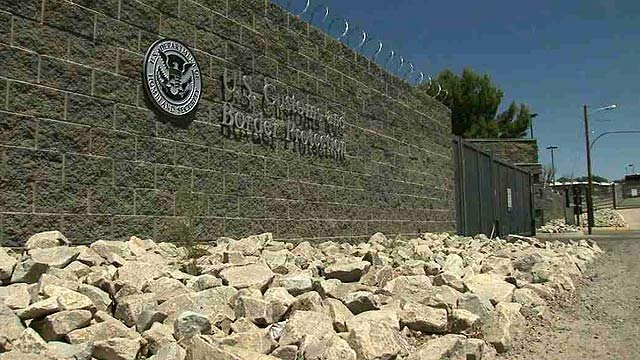 Beginning last Tuesday, U.S. Customs and Border Patrol officials began accepting foreign children at a warehouse location in Nogales. (Source: CBS 5 News)