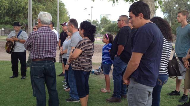 A vigil was held in Jaycee Park in Tempe Sunday evening (Source: CBS 5 News)