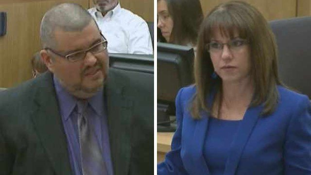 Arias' defense attorneys Kirk Nurmi (l), and Jennifer Willmott  (r)