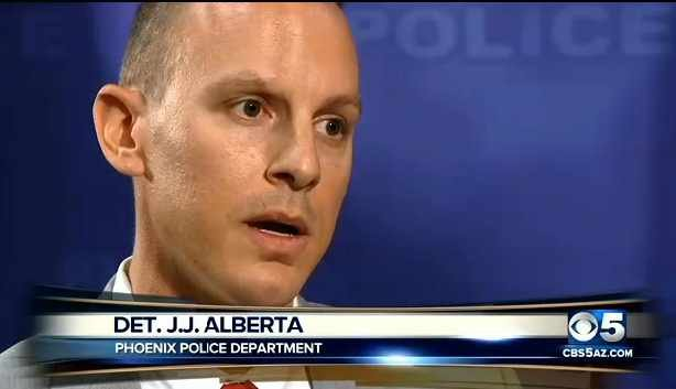 Phoenix Police Department Det. JJ Alberta says a grant from the National Institute of Justice investigators helped solve a 25-year-old Phoenix murder case. (Source: CBS 5 News)
