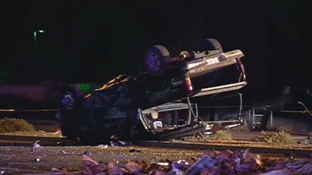 The driver of this pickup truck died after a collision with a minivan in Chandler on Thursday night.