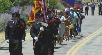 A Yarnell Hill Fire memorial service was held Sunday at the site of the future Memorial Park. (Source: CBS 5 News)