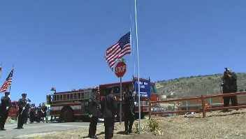 The town paused to remember the sacrifices paid by the Hotshots. (Source: CBS 5 News)