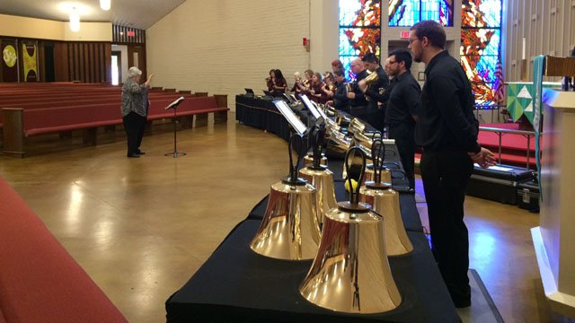 Sunday's observances also featured a special memorial concert. (Source: CBS 5 News)