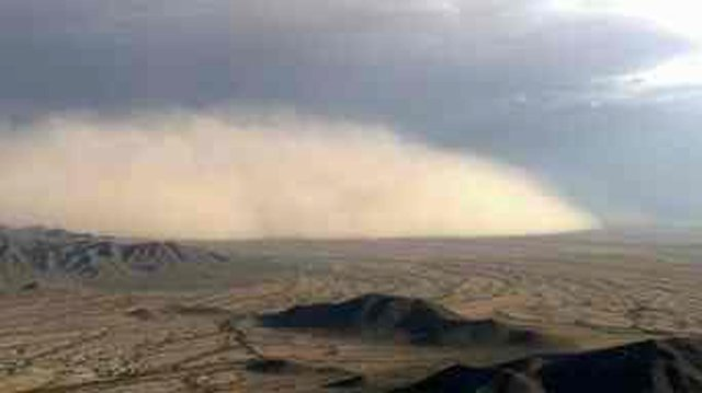 The first dust storm of the monsoon season kicked up Thursday evening. (Source: CBS 5 News)