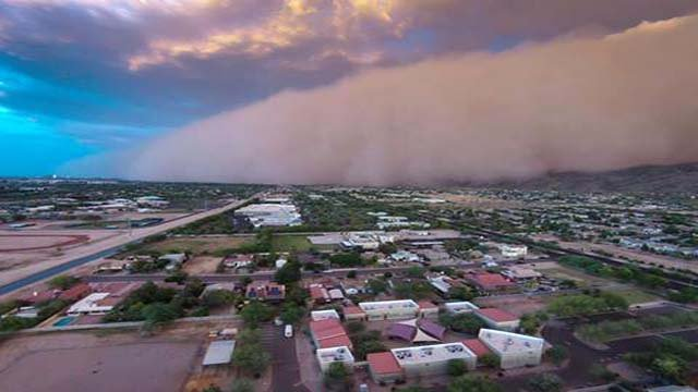 CBS 5 viewer Adam Schmid launched his DJI Phantom 2 Vision quadcopter and it captured this view in south Phoenix. (Source: Adam Schmid)