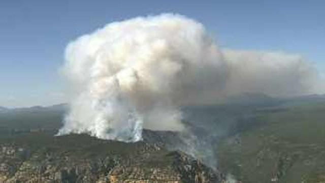 The Slide Fire started May 20. (Source: CBS 5 News)