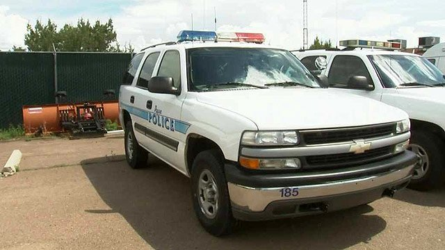 This Payson Police Department SUV was stolen Sunday night, a police spokesman confirmed. (Source: CBS 5 News)