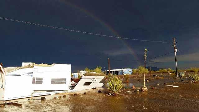 Damage from heavy rains seen in Quartzsite. (Source: Quartzsite Fire Department)