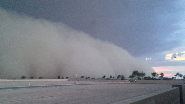 Tuesday evening's dust storm tore through Coolidge southeast of Phoenix in Pinal County. (Source: Mark Bagley)