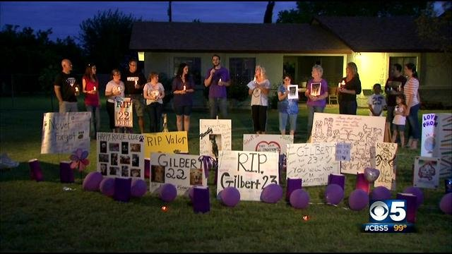 A candlelight vigil was held in Gilbert Saturday night. (Source: CBS 5 News)