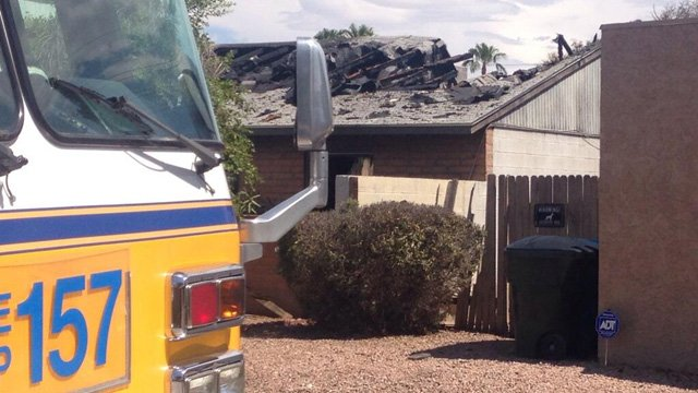 The home is located near 43rd and Northern avenues. (Source: Jonathan Lowe, cbs5az.com)
