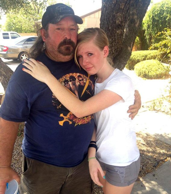 William Pranke and his daughter were driving down Northern Avenue when they spotted the home on fire. (Source: Jonathan Lowe, cbs5az.com).