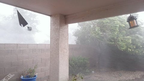 Rain came down in sheets in the southeast Valley. (Source: Pam Hoskin)