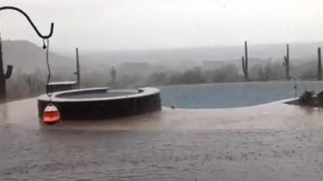Rain came down in buckets in East Mesa just after 2 p.m. (Source: Diane Kirkpatrick)