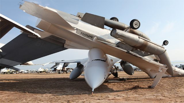 Damage from Sunday night's storm was seen at Davis-Monthan Air Force Base in southern Arizona. (Source: Davis-Monthan AFB)