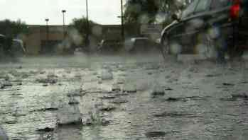Tuesday's storms dumped heavy rain and sparked some power outages for APS customers. (Source: CBS 5 News)