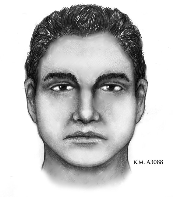 "This is a sketch of the other ""person of interest"" police want to find. (Source: Phoenix Police Department)"