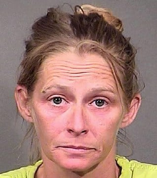 Sharon Hovik was arrested and jailed after she screamed for someone to call 911 while in her RV in a vacant lot Saturday. (Source: Mohave County Sheriff's Office)