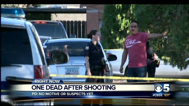 The shooting happened near 32nd Street and McDowell Saturday evening. (Source: CBS 5 News)