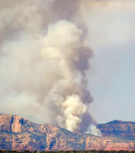 Fay Fire burned northwest of Sedona. (Source: Ken Wells' Facebook page)