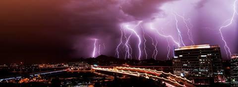 Monsoon photo of Saturday night's storm. (Source: Bill Nash)